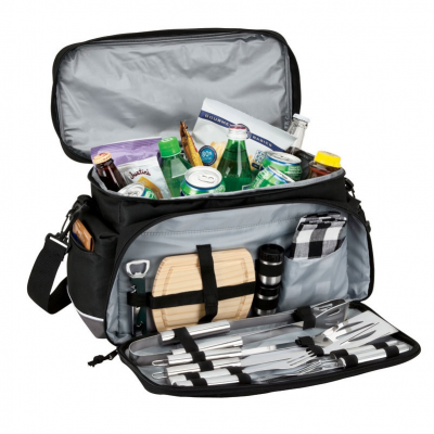 15 Can Cooler Bag with Picnic/BBQ Set