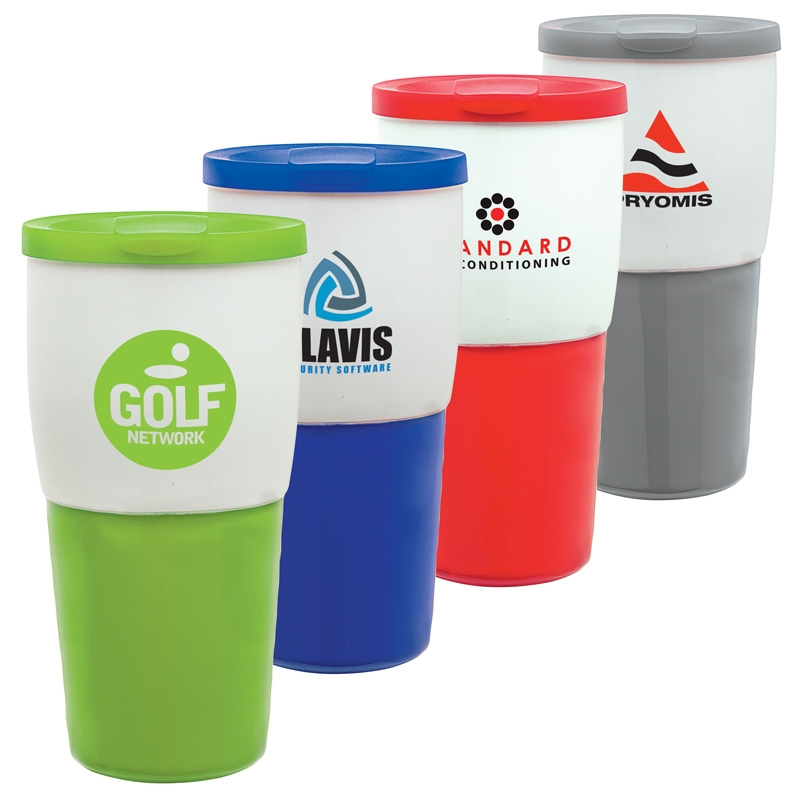 15 oz. Ceramic Travel Tumbler w/ Sipper Lid