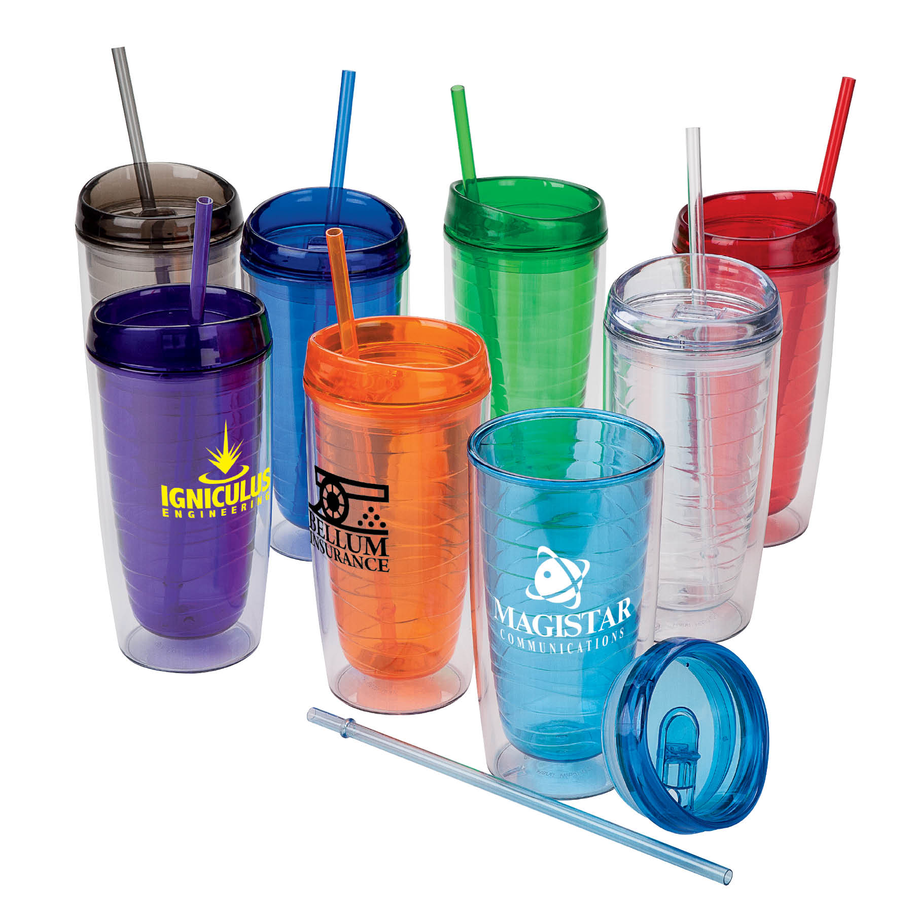 16 Oz. Hot/Cold AS Plastic Tumbler
