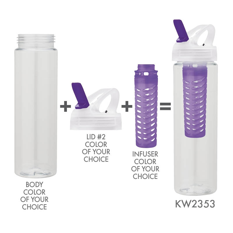 25 oz. PET Bottle with Flip Spout & Infuser