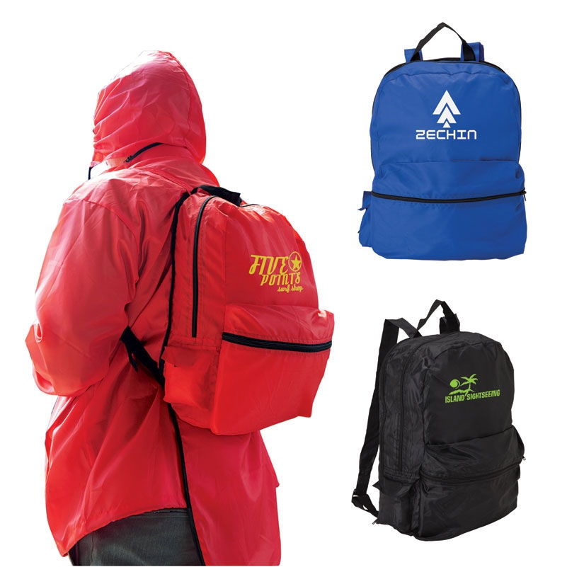 All-in-1 Backpack & Rain Jacket Combo