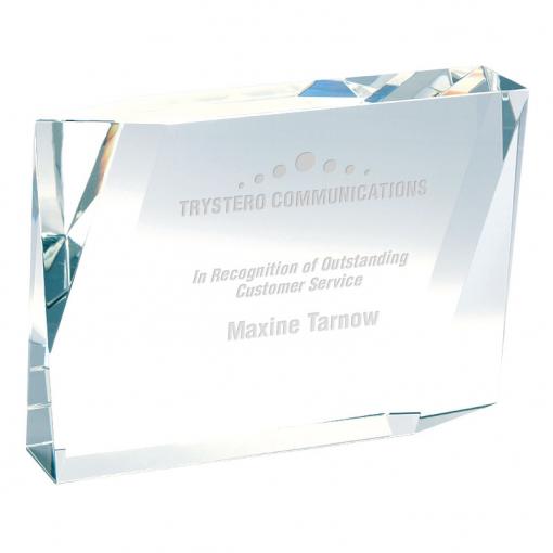 Beveled Rectangle Crystal Award