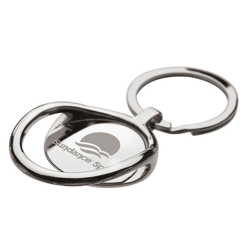 Chrome Bottle Opener Key Ring w/ Split Ring