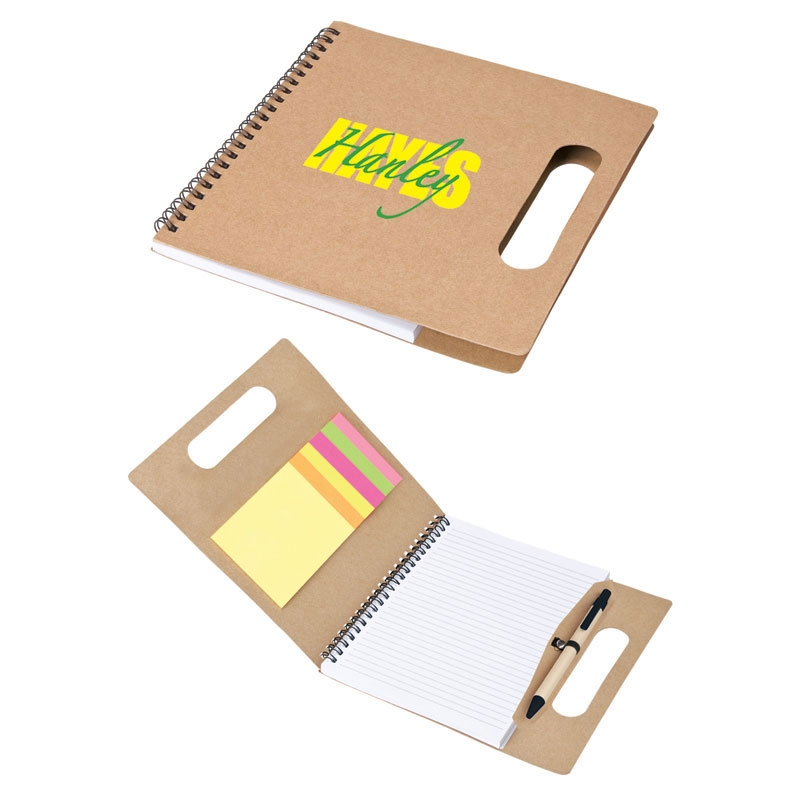 Eco Friendly Spiral Paper Set w/ Handle