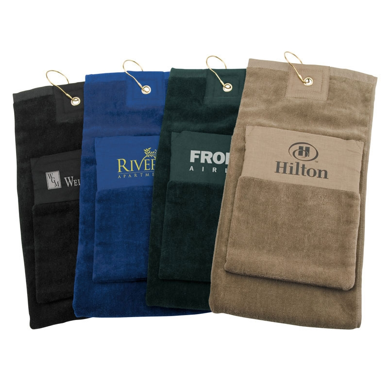 Golf Pocket Towel w/ Pocket & Clip