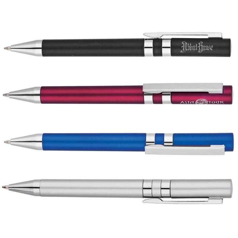 Metallic Twist Action Ballpoint Pen