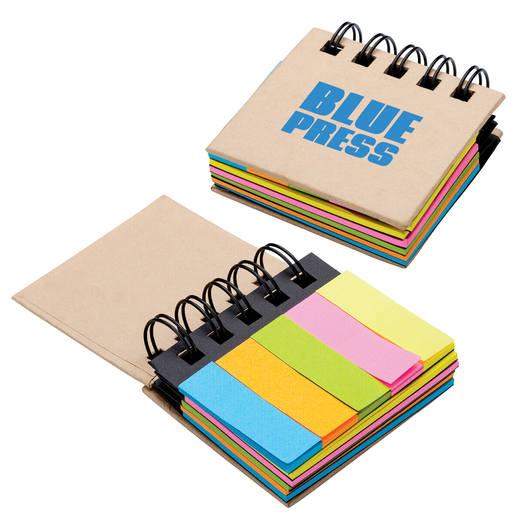 Notebook w/ Sticky Notes & Flags