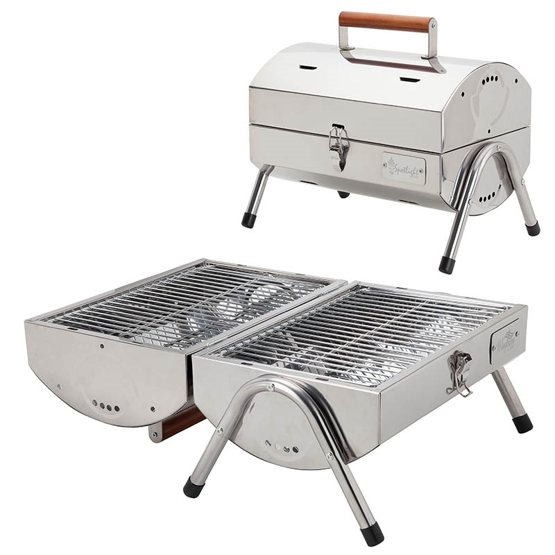 Portable stainless steel bbq grill logo branded items