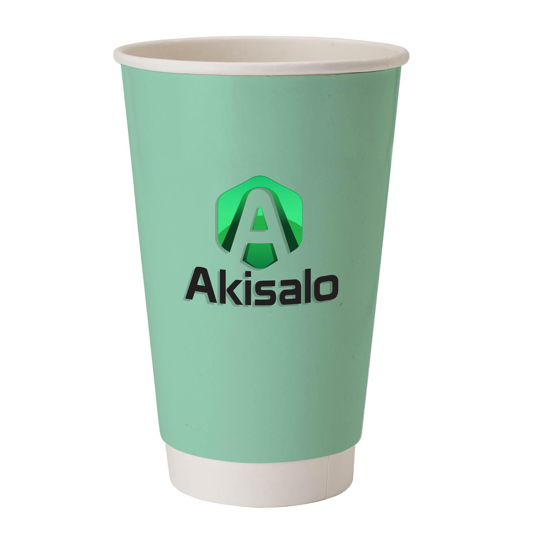 PerkaR 20oz Double Wall Paper Coffee Cup