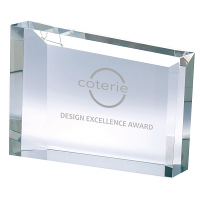 Rectangular Frame Crystal Award
