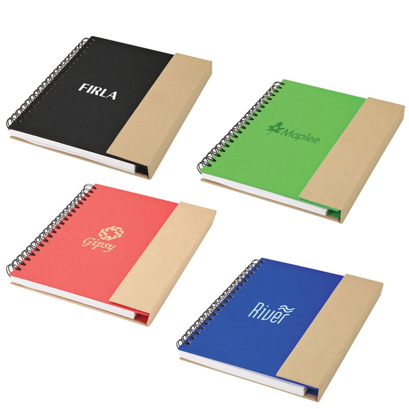 Recycled Notebook & Pen w/ Magnetic Flap Closure