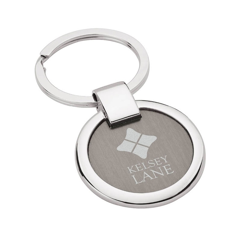 Round Nickel & Gun Metal Key Ring
