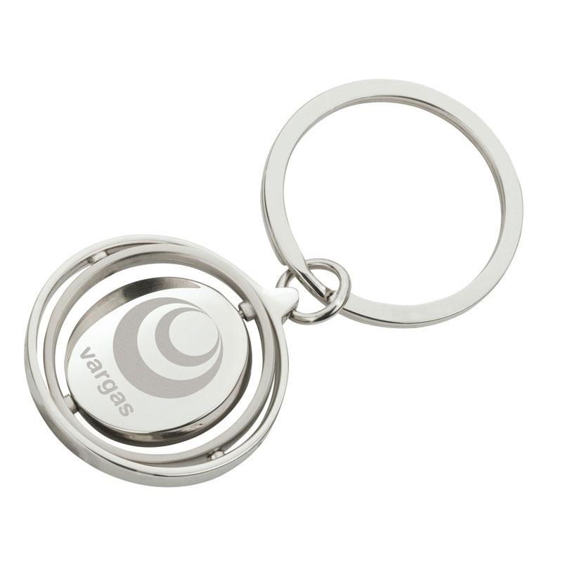 Spinning Gyro Disc Design Key Ring