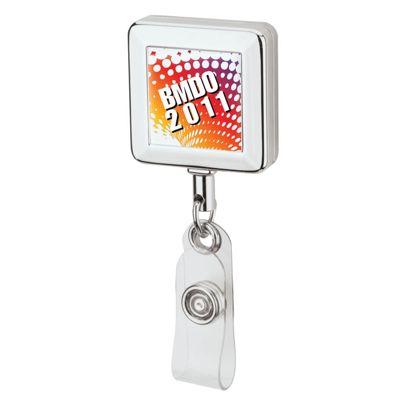 Square Metal Badge Holder