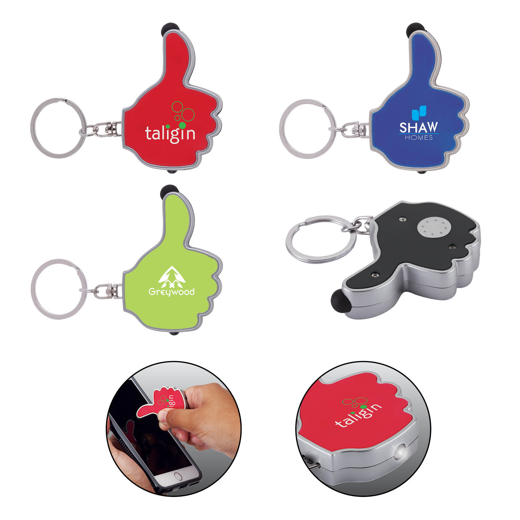 Thumbs-Up LED Keyring / Stylus