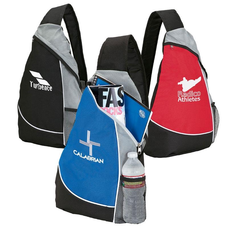 Top Zip Athletic Sling Bag