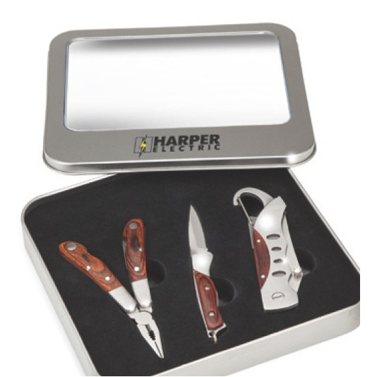 3 Piece Tool Set w/Folding Knife