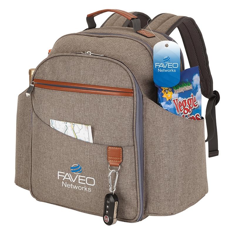Carlsbad Picnic Set Amp Cooler Backpack Logo Branded Items