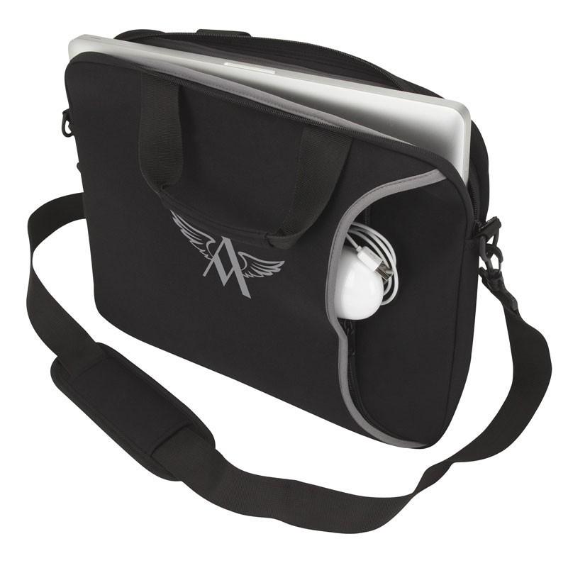 Imitation Neoprene Laptop Case w/Padded Shoulder Strap