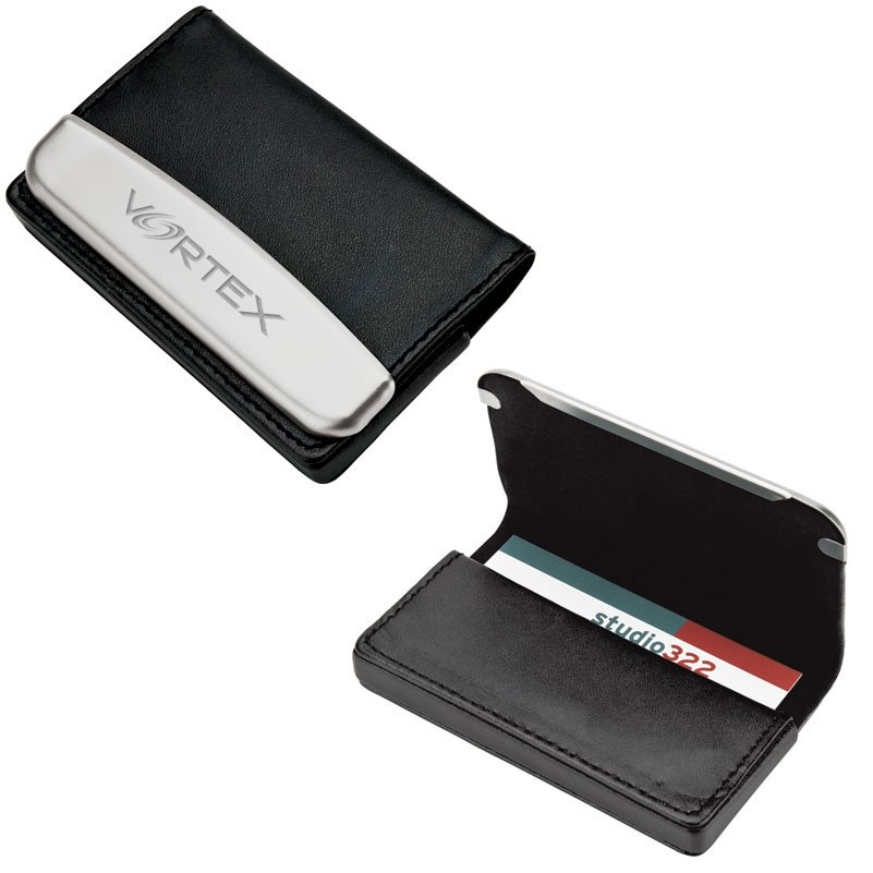 Lisse Leather & Metal Business Card Case | Logo Branded Items