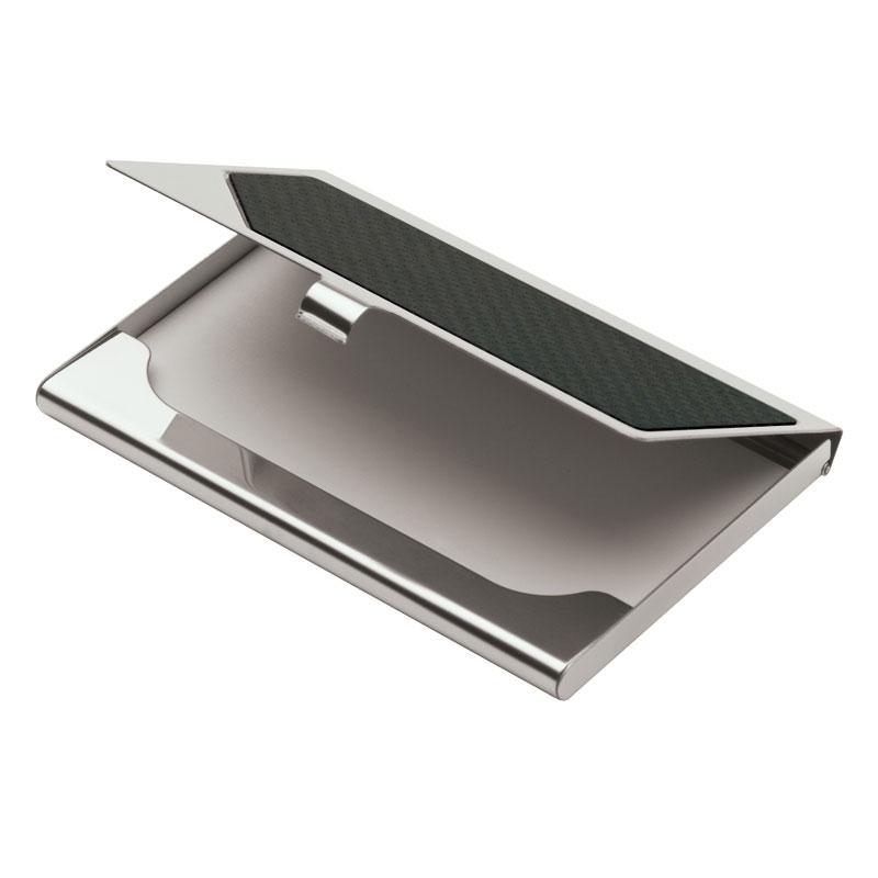 Metal Business Card Case w/Carbon Fiber Insert | Logo Branded Items