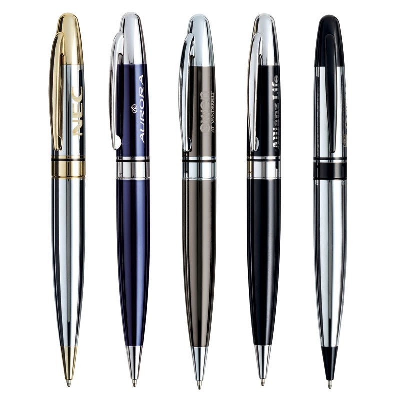 Presido Gloss Finished Brass Ballpoint Pen w/Twist Mechanism