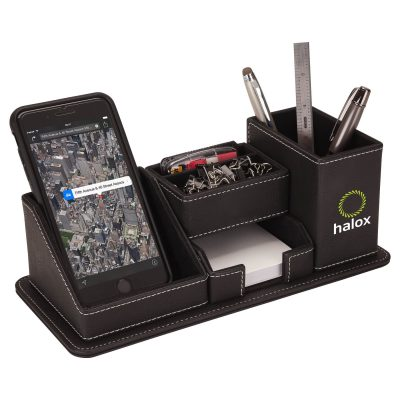Oxford Desk Organizer w/Phone Holder