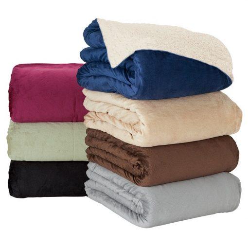 Brookline Micro Mink Sherpa Blanket