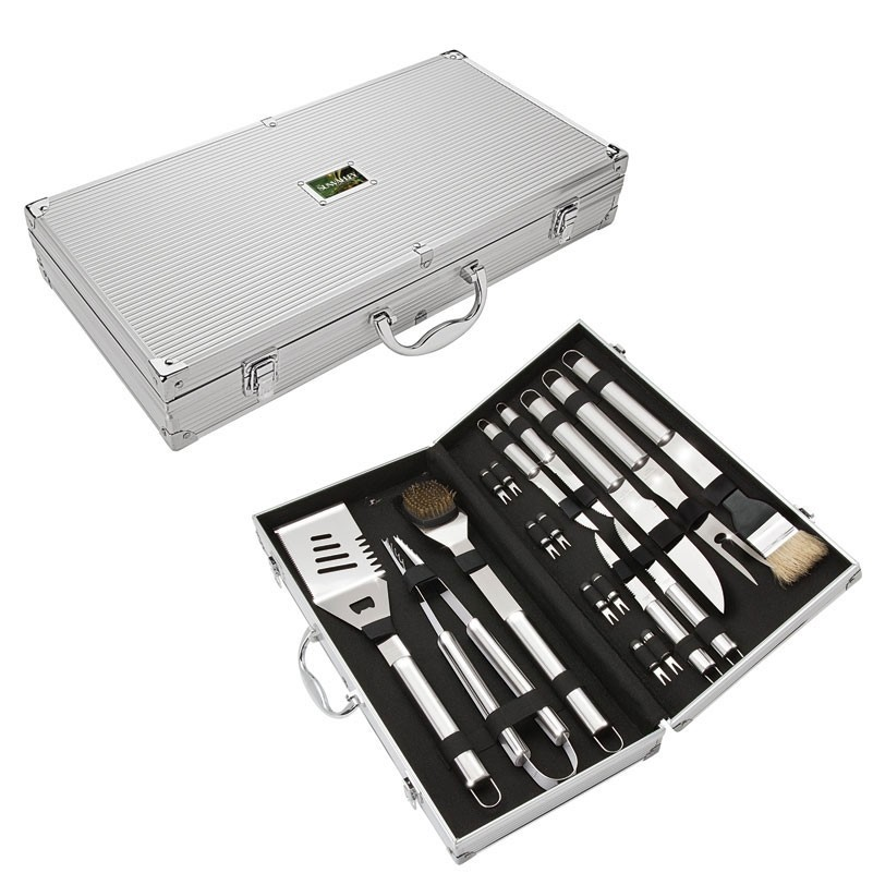 Central Park 18 Piece Stainless Steel BBQ Set