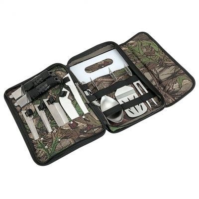 Big Sur Camo BBQ Camping Set