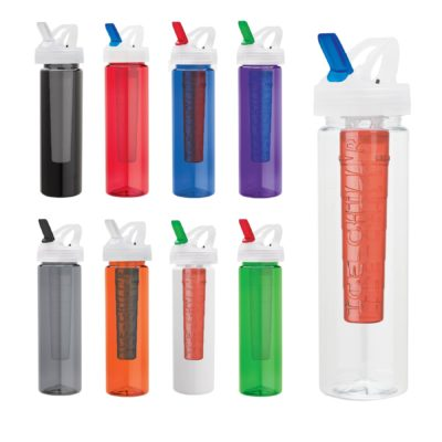 25 oz. PET Bottle with Flip Spout & Ice Stick