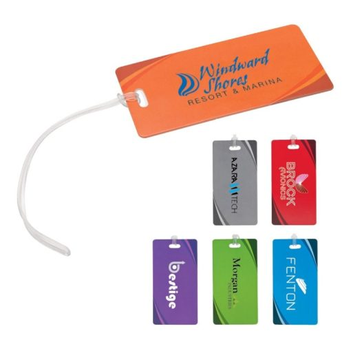 Luggage Tag w/ Wave Design