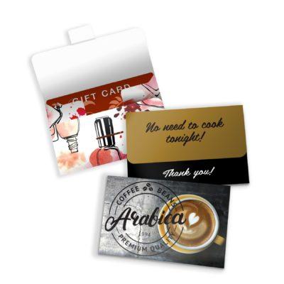 Self-Locking Gift Card Holder