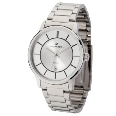 Watch Creations Men's 2 Tone Silver Dial Watch w/Date Display
