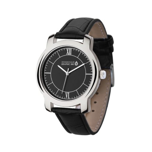 Watch Creations Men's Classic Style Watch w/Polished Silver Finish