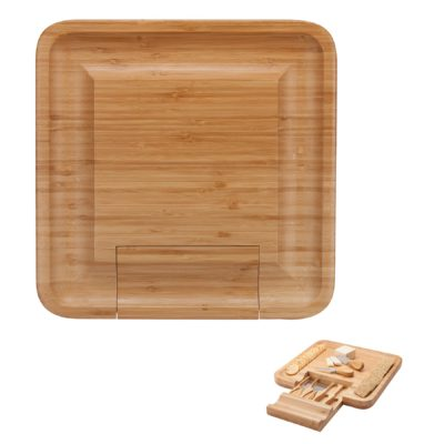 Lorenzi 4-Piece Bamboo Cheese Tray