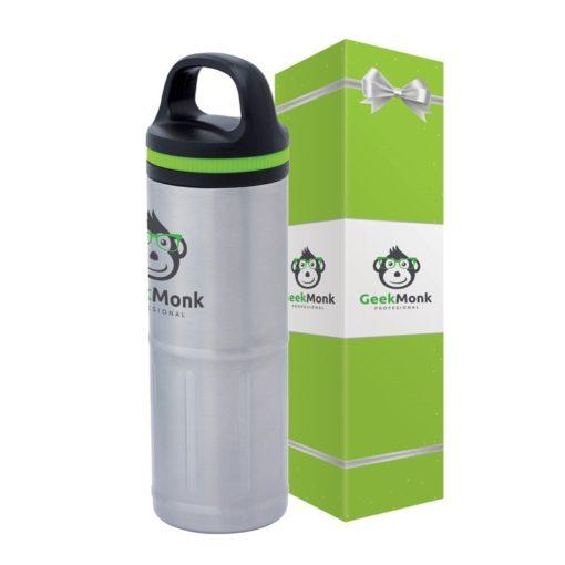 Odin 20 oz. Stainless Steel Vacuum Water Bottle & Packaging