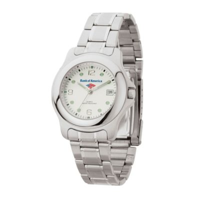 Watch Creations Men's 2 Tone Silver Bracelet Watch