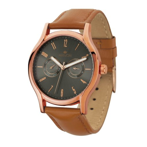 Watch Creations Unisex Multi-function Watch w/Genuine Leather Straps