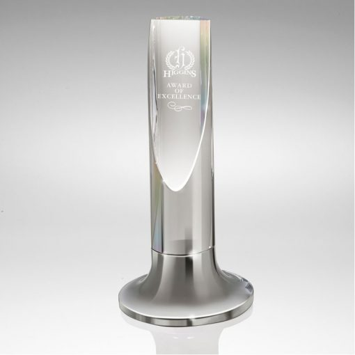 Aire I Diagonal Cut Crystal Cylinder