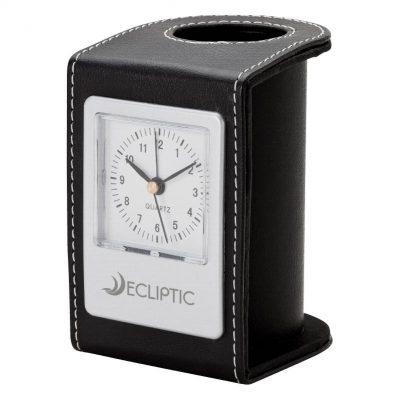Alba Desk Clock & Pen Cup