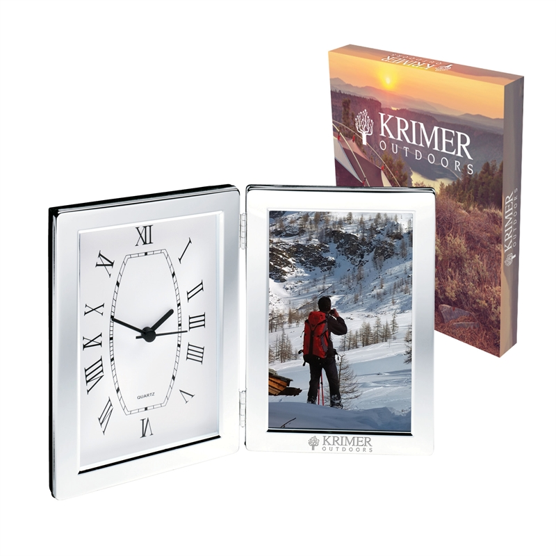 Jadis I Desk Clock Photo Frame Logo Branded Items