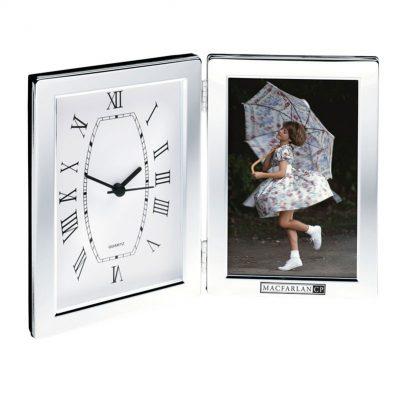 Jadis I Desk Clock & Photo Frame