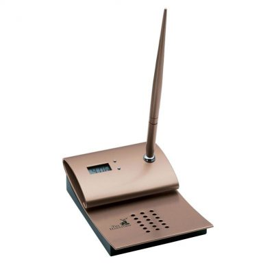 Magnifique Series Digital Clock and Pen Stand