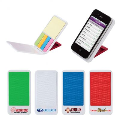 Mobile Device Stand with Sticky Notes