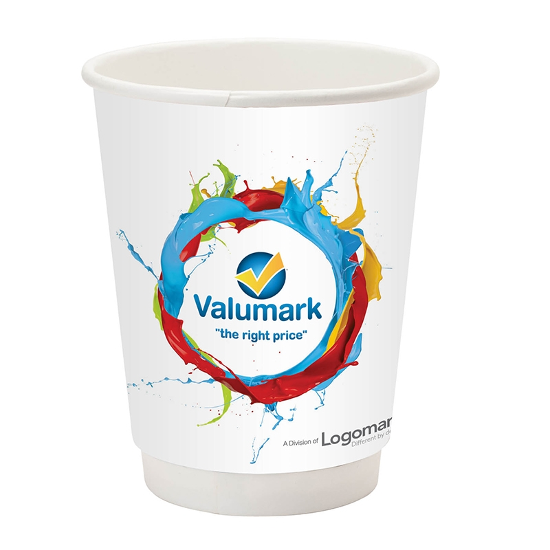prka 12oz double wall paper coffee cup logo branded items