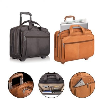 Solo Walker Leather Rolling Case