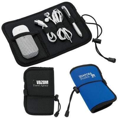 Somalia Neoprene Roll-Up Tech Organizer