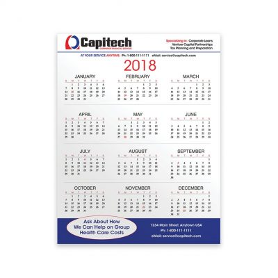"PaperSplash 8 3/8"" x 11"" Wall Calendar"