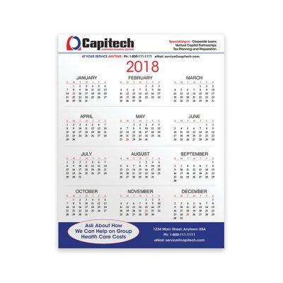 "PaperSplash 8 3/8"" x 11"" Wall Calendar"